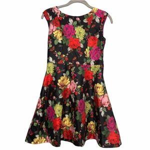 Baker by Ted Baker Girls Floral Fit Flare Dress